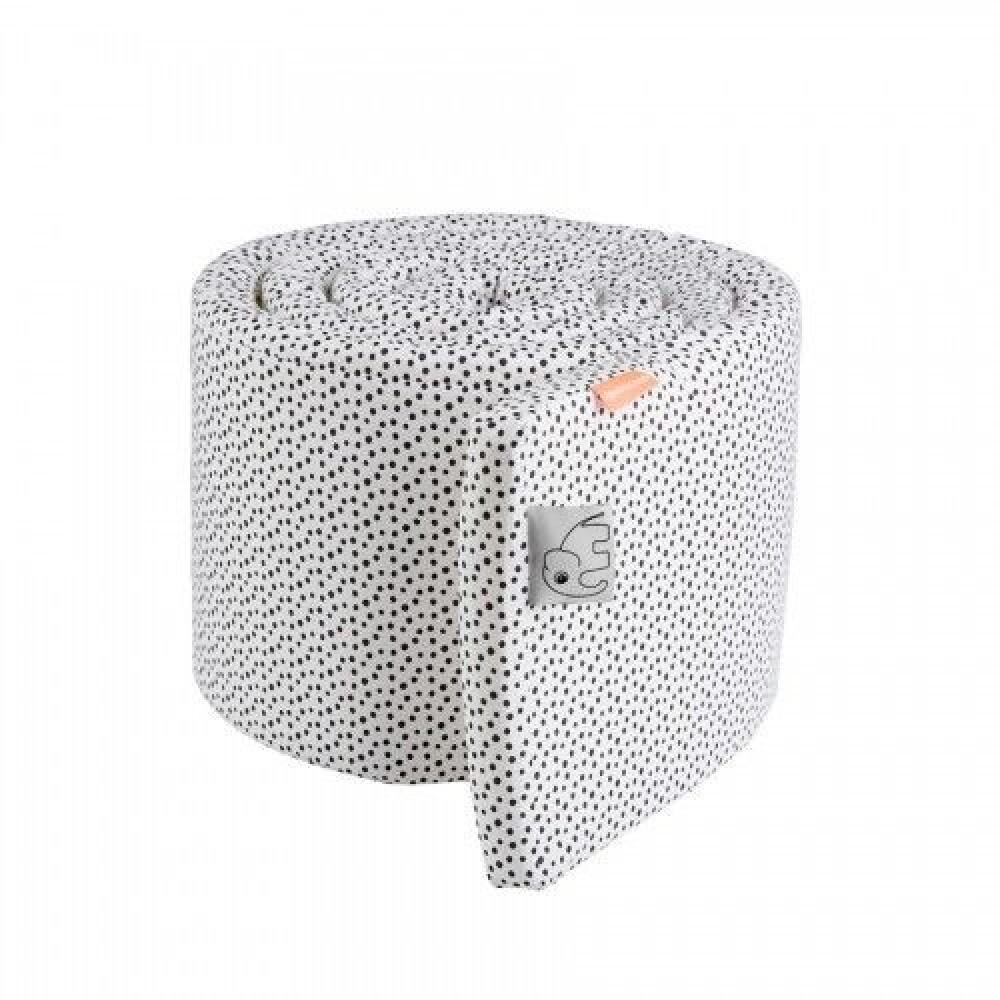 Bedbumper Happy dots - white