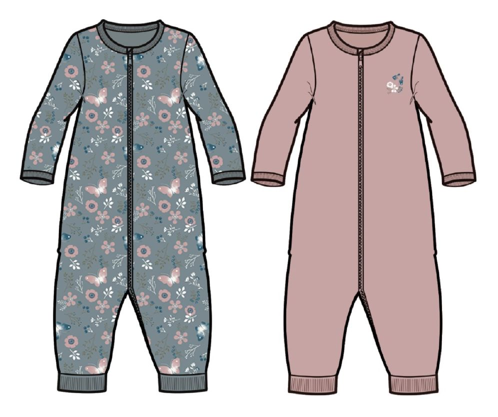 name it nbfnightsuit 2 pk pale mauve