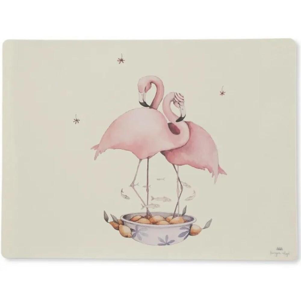 Konges sløjd Placemat silicone - Flamingo