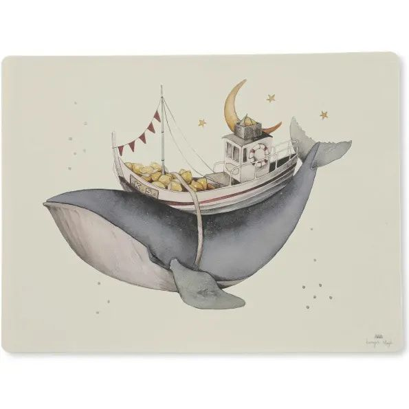 Konges sløjd Placemat silicone - Whale