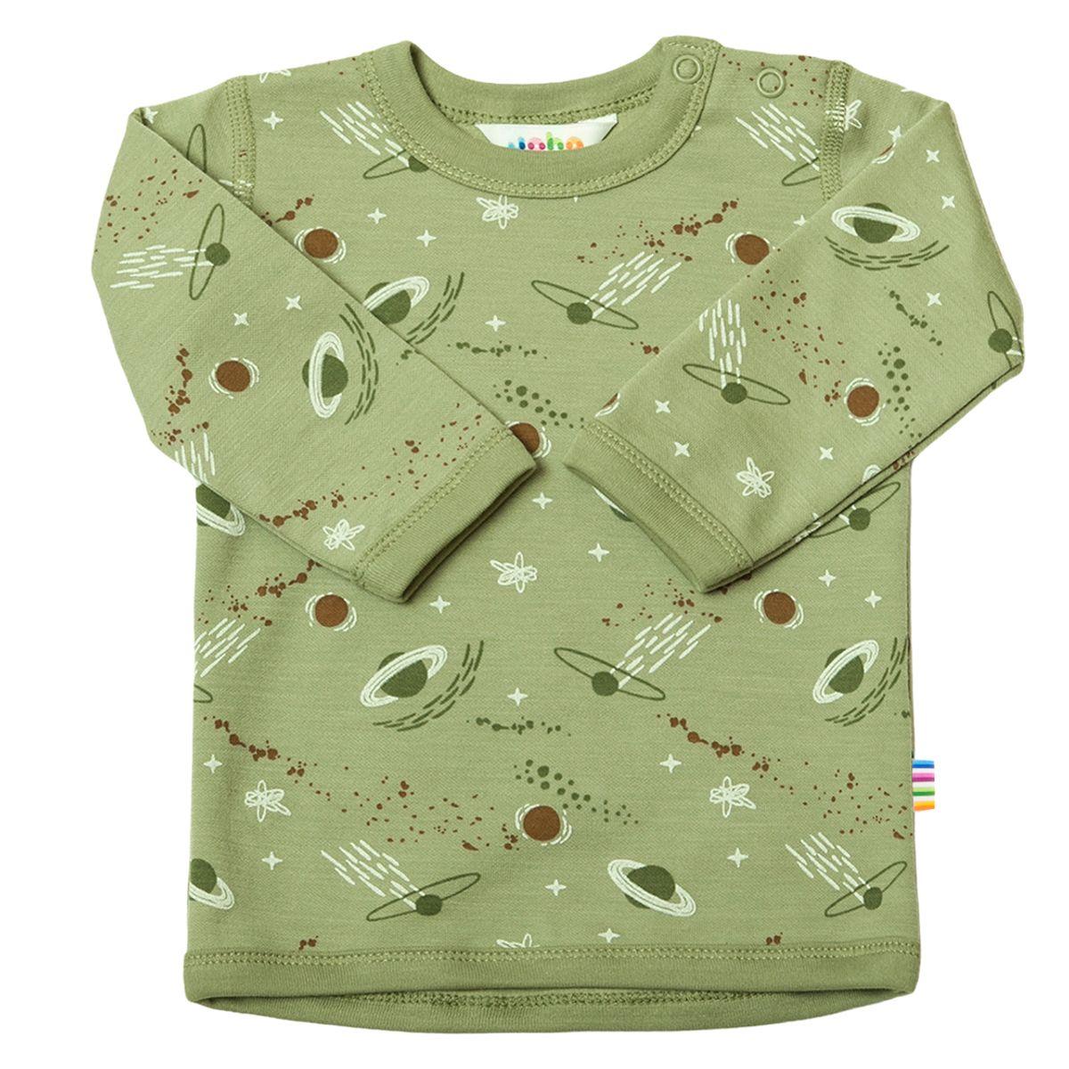 Blouse w/long sleeves Ull/bomull
