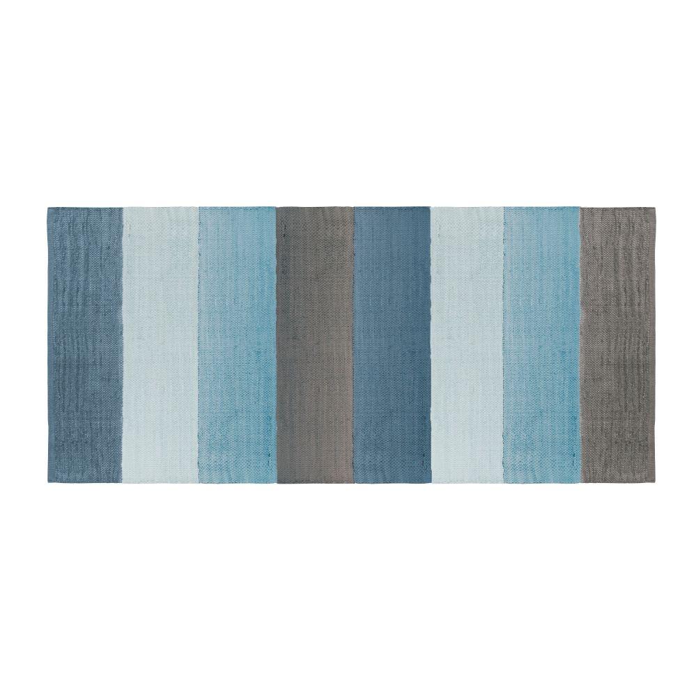 SEBRA woven floor mat - 80x180 Blue