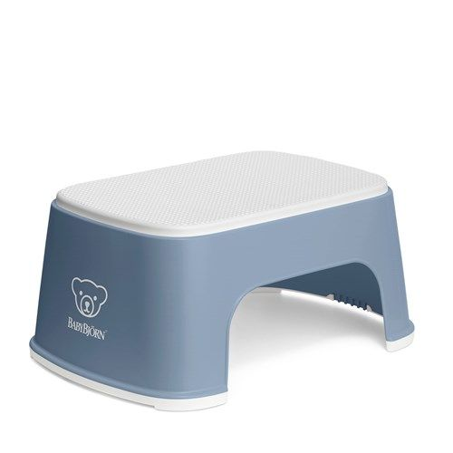 Babybjørn step stool - Deep Blue/white