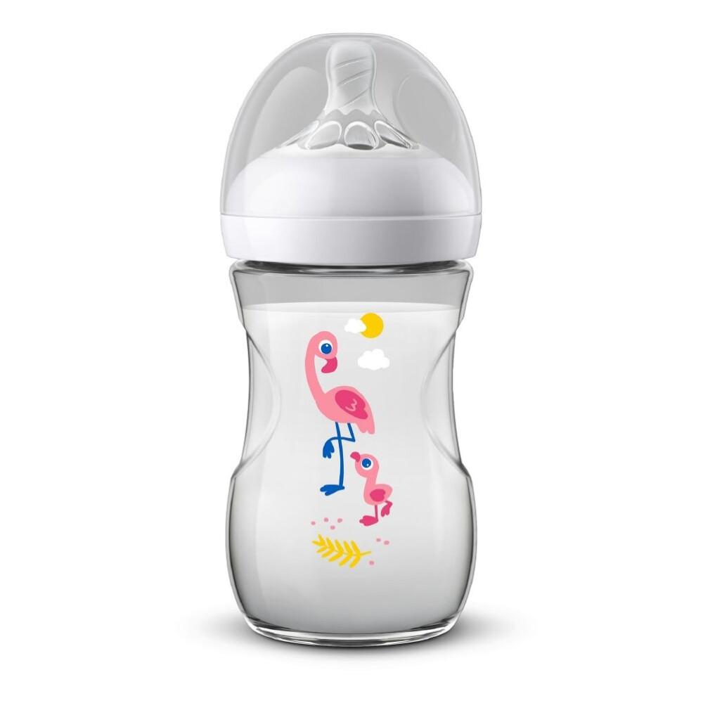 AVENT Natural flaske 260 ml - 1m+ flamingo
